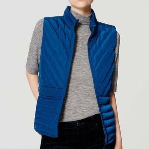 Blue LOFT insulated zipper vest